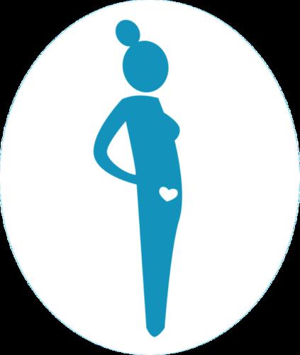 Icoon zwanger worden wit original